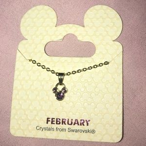 Disney birth stone necklace